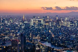 Quintessential Tokyo Sunset