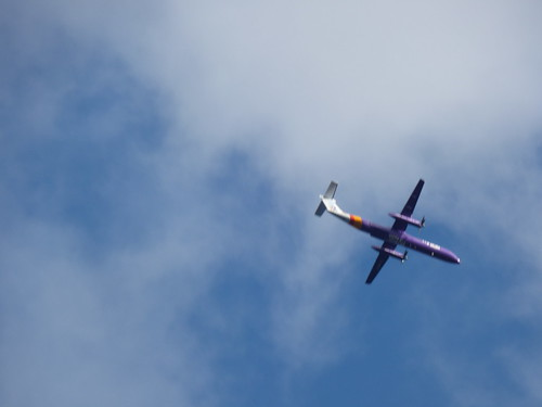 Chester Road, Daresbury - plane - Flybe