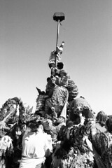Mardi Gras pyramid (jamesbilleaudeau) Tags: nikon louisiana f100 400 hp5 gras mardi ilford 2016 24mm28