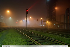 Otrokovick zhlav | tra 331 | Zln-sted (jirka.zapalka) Tags: light fog night train railstation zlin stanice trat331