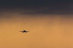 Donavia A319 (denlazarev) Tags: winter sky clouds plane canon airplane evening fly photo airport russia aircraft aviation air landing airline airbus airlines runway spotting airliner rostovondon lightroom  a319  donavia  urrr   vpbbu