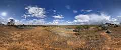 Lake View Lookout [360] (Chad Mauger) Tags: panorama australia lookout newsouthwales lakeview brokenhill equirectangular