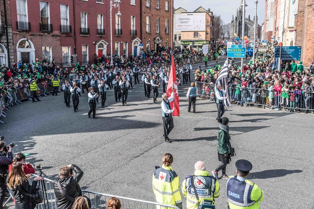 Bagad de Vannes Melinerion Brittany [St. Patrick's Parade In Dublin 2016]-112384