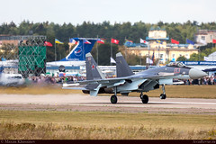 Su-35 RF-95242 Air-Space force Russia (maximkhusainovm) Tags: camera digital plane canon airplane flying photo airport aircraft aviation air airplanes wing jet sigma spot landing planes machines spotting airliner airfield revue avia photocamera spotter airjet aircompany su35 planespot aviaphoto aviarevue maks2015
