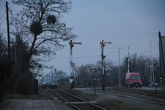 ambinowice train station 04.03.2016 (szogun000) Tags: road railroad station canon crossing gates tracks poland polska rail railway signals platforms semaphore pkp opolskie opolszczyzna ambinowice canoneos550d canonefs18135mmf3556is d29287