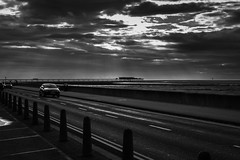 Sun-rays over the pier (tabulator_1) Tags: blackwhite sunrays southport southportpier