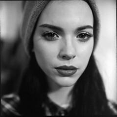 Look (Braca Nadezdic) Tags: portrait analog rolleiflex rolleiflexgx rollfilm blackandwhite bw studio film negative