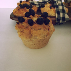 Primitive Fake Blueberry Muffins Farmhouse Fake Food - Scented Fake Blueberry Muffins in a Rusty Pan (Everything Dawn Bakery Candle Treats) Tags: food kitchen farmhouse muffins cinnamon country fake decor prim primitive everythingdawn