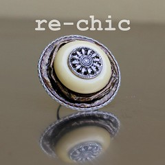 Brown ring (re-chic) Tags: coffee vintage handmade capsule ring button recycle pods reuse caff anello bottoni riciclo rechic