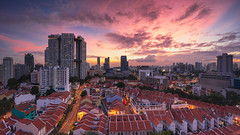 Flamethrower (bing dun (nitewalk)) Tags: sunset panorama night singapore chinatown sony centre kreta pearl pinnacle duxton ayer pagar tanjong a7r fe1635