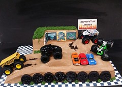 Monster Truck Cake (dragosisters) Tags: cars cake dirt trucks monstertruck