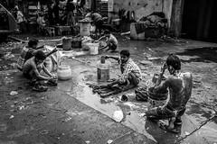 Old Delhi, Feb 2016 (krishudds) Tags: india man fuji delhi streetphotography bathing washing olddelhi travelphotography documentaryphotography x100t