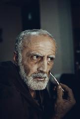"""""""Fisherman"""" Actor David Roinishvili (kursebeli) Tags: portrait people film 35mm georgia photo nikon fuji f100 waiter thetre kutaisi"""