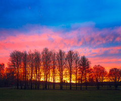 Sunset at the golf course (tad888) Tags: champ sunset coucherdesoleil calm calme nuages clouds