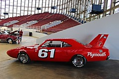 1970 Plymouth Roadrunner Superbird #61 (osubuckialum) Tags: show red classic cars racecar nc muscle plymouth northcarolina raleigh nascar hotrod tribute 1970 annual mopar custom 70 440 v8 carshow roadrunner musclecar 61 redcar dortonarena superbird 2016 goodguys buddybaker northcarolinastatefairgrounds northcarolinanationals