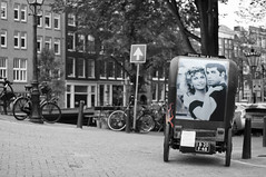 Grease in Amsterdam (cudipeich) Tags: blackandwhite amsterdam bikes bycicles