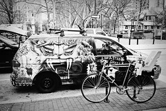 R2-017-7 (David Swift Photography Thanks for 15 million view) Tags: film philadelphia 35mm westphiladelphia streetphotography vehicle kodaktrix vans universitycity yashicat4 paintedvans davidswiftphotography