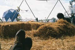 Lounging in haybales (B@XT3R) Tags: party portugal festival punk free traveller anarchy rave raver fronteira autonomous soundsystems portalegre freetekno anarchis illeal freekuency