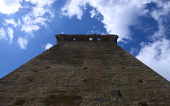 Something in my mind. (Torre del soccorso, Vicopisano, Italy) (francescodipaco) Tags: blue sky italy cloud tower history architecture medieval tuscany brunelleschi vicopisano