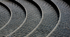 Rock Circles_3229_2.JPG (Rikx) Tags: texture water fountain rock horizontal stone open space sydney australia granite darlingharbour ripples waterfeature circular