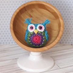 Tiny Crochet Owl and an Ikea Hack (Jay Bird Finnigan) Tags: ikea miniature crochet owl hack granny amigurumi