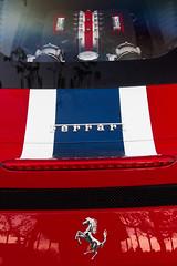 Capot arrire d'une Ferrari. (Gilles Daligand) Tags: lyon couleurs ferrari capot rhone graphisme arriere tourdefranceauto