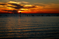 Fort Island Trail Beach sunset (FotoFloridian) Tags: sunset gulfofmexico nature water canon florida sl1 crystalriver