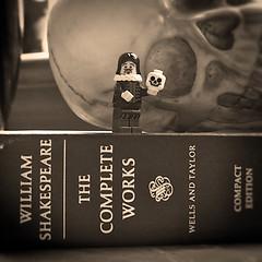 4oo years (SkyeBaggie) Tags: blackandwhite canon skull 50mm lego shakespeare william literature tragedy works actor bard hamlet complete antonrandlephotography