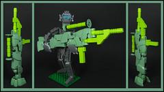 """Overkill"" (Karf Oohlu) Tags: robot gun lego rifle mecha droid bot overkill moc handcannon"