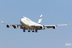 4X-ELH (Escursso) Tags: barcelona airplane israel al bcn el boeing airlines 747 spotting b747 747400 llobregat avio elprat 747412 lebl aeroportairport 4xelh