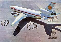 Iberia McDonnell Douglas DC-10 (postcard) (KristofCs) Tags: airplane spain postcard spanish airline postal douglas avin iberia dc10 mcdonnell trijet aerolneas trihooler eccbn