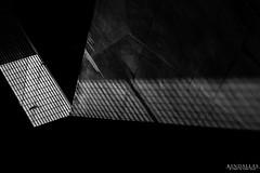 Through the Window (Kindallas) Tags: city light shadow sun white black window wall subway concrete metro grade santana form paulo são