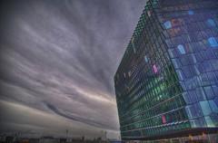 Harpa (mokastet) Tags: sunset geometric glass iceland opera shaped dusk reykjavik panels olafureliasson icelandic concerthall the harpa mokastet harpaconcerthall theicelandicopera geometricshapedglasspanels
