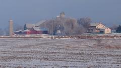 The Daniel Martin farmstead (virgil martin) Tags: winter panorama snow ontario canada landscape frost hoarfrost gimp waterlooregion mennonitefarm woolwichtownship microsoftice oloneo olympusomdem5