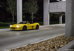 ferrari-f355-spider-m540-matte-black-5 (AvantGardeWheels) Tags: black wheel yellow design spider wheels ferrari ag finish designs custom aggressive rim rims lowered avant garde matte offset finishing stance avantgarde f355 20inch bespoke fitment m540 agwheels