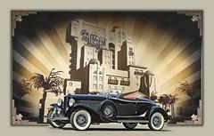 Deco Delight ((The) Appleman) Tags: illustration 1932 hotel auburn disney hollywood twelve speedster theappleman