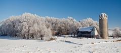 Frosted Farm (Zack Mensinger) Tags: winter minnesota eos midwest frost hoarfrost 2016 westernminnesota canon5dmarkii
