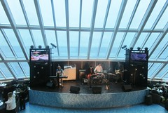 Entertainment in the multi-level lounge (cohodas208c) Tags: rock ferry boat ship lounge band entertainment bow coverband tallink