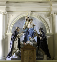 St Catherine receiving the Rosary (Lawrence OP) Tags: california sculpture statue europe dominican rosary benicia mystic tertiary stdominic ourladyoftherosary catherineofsiena patroness