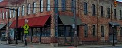 Mercantile (MPnormaleye) Tags: old city windows columbus ohio urban signs brick bicycle shop architecture awning store market letters retro utata worn weathered 24mm photomatix