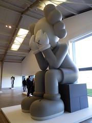 KAWS, Companion (Passing Through), 2012, painted fibreglass (jacquemart) Tags: park sculpture yorkshire kaws 2012 companionpassingthrough paintedfibreglass