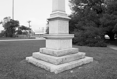 """Monument to """"Our Confederate Soldiers"""", Wiess Park, Beaumont, Texas 1604281404bw (Patrick Feller) Tags: park county heritage history monument memorial war texas united jim keith ucv confederate civil hate jefferson denial crow shame slavery weiss racism racist veterans beaumont sons cause 1926 1916 relocated bigotry scv wiess revisionist"""