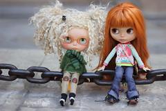 Carla y Bu taking a brake