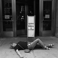 "Woman Down: ""One-Woman Protest Closes Down City Hall"" - Downtown Chicago - 17 APR 2016 - 5DS - 034 (Andre's Street Photography) Tags: city blackandwhite woman blancoynegro rascal canon eos one hall justice close noiretblanc zwartwit cityhall pavement sunday protest entrance streetphotography police lisa down block sprawled lying complaints toomany lyingdown chicagotribune escaped authorities chicagoist chicagoreader chicagomagazine straatfotografie closedown chicagojournal 5ds ef2470f4l womandown chicago16apr20165ds onewomanprotest cityhallisclosed"