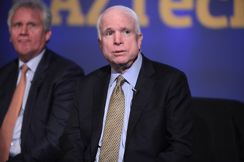 From flickr.com: Jeff Immelt & John McCain {MID-310595}