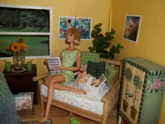 Girls Knit/Crochet Day #4 (Vicki02000) Tags: barbie diorama