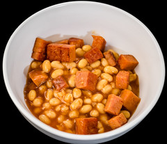 Baked beans, Worcestershire sauce,  and Spam (garydlum) Tags: spam canberra bakedbeans worcestershiresauce