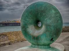 Afloat (aka the doughnut) (nooker72) Tags: sculpture coast seaside brighton outdoor seafront brightonbeach brightonpier palacepier