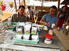 Doi Inthanon NP, Thailand (Jan-2016) 10-011 (MistyTree Adventures) Tags: men coffee thailand stand asia seasia outdoor karen hilltribe vendors doiinthanon panasoniclumix karenhilltribe doiinthanonnationalpark hilltribevillage