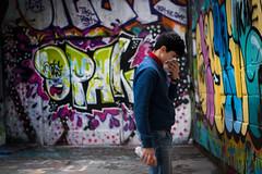 An Artist at Work (Mr.MinuteMan) Tags: london graffiti artist southbank skatepark southwark sonylens sony50mm a6300 southbankskatepark sonya6300